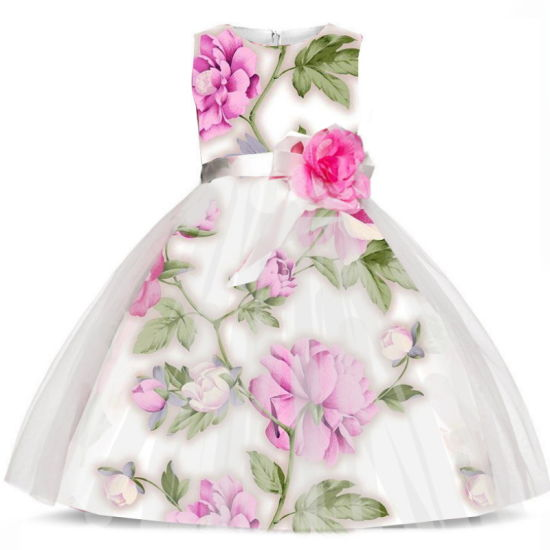 Flower Girl Party Tutu Dress to 7 Years Old Children pictures & photos