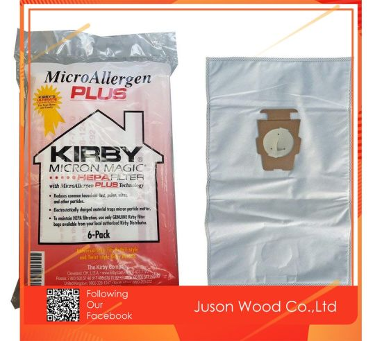Kirby Micron Magic Hepa Filter Micro Allergen Plus F Style Vacuum Bags 6 Pack 204814