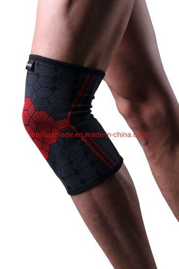 Elastic High Tenacity Fiber Knitted Sports Knee Brace
