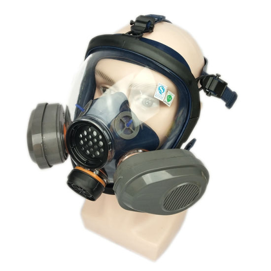 Two Filters Safety Personal Protective Full Face Gas Mask