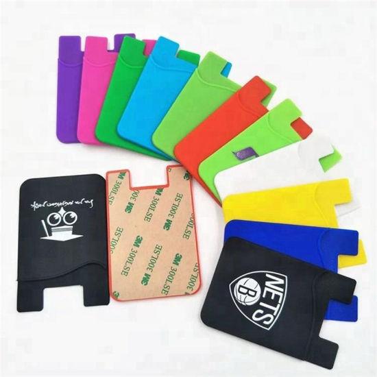 Silicone Custom Business Mobile Phone Debit Card Holder