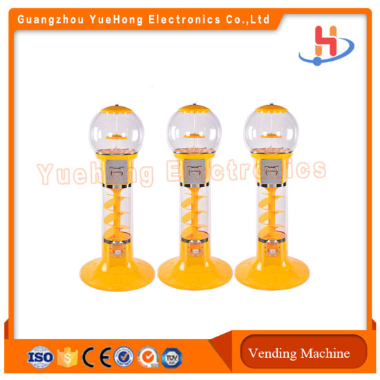 Wholesale Price Candy Dispenser Bouncing Ball Capsule Coin Operated Vending Gumball Machine