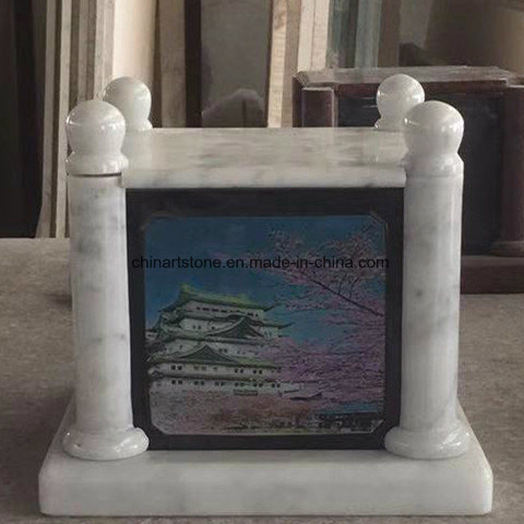 Mini-Craft Shadow Carving Marble Tombstone for Memorial
