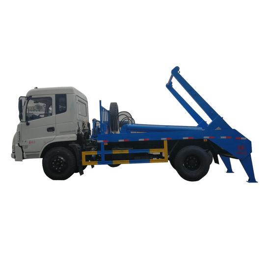 Factory Low Price Dongfeng Kingrun 8-12 Cbm Skip Loader Swing Arm Garbage Truck