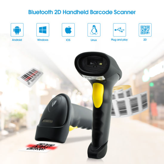Hot Convenient Wireless Bluetooth Android 2D CMOS Barcode Scanner