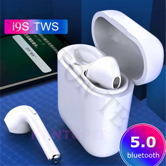 Ultralight Mini in-Ear Bluetooth Headset Strong Bass I9s Tws Earphones with  Charger Case