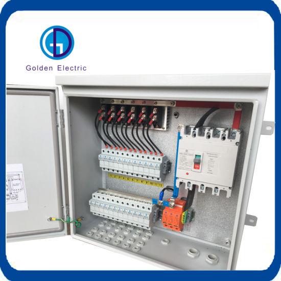 Photovoltatic 1000V Solar Distribution Box PV Array 24 String DC Combiner Box DC AC Switching Box