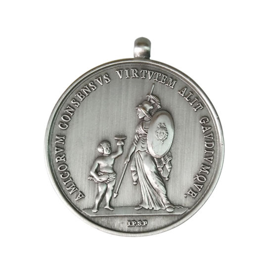 Army Ribbon Hiking Mountain Tiny Catholic Pendant Medal