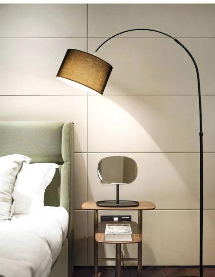 a Black Cloth Fishing Floor Lamp /Light/LED/Decoration/Lighting