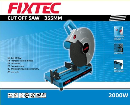 "Fixtec Power Tools Metal Cut off Saw 14"" 355mm 3800rpm Metal Cut off Machine"