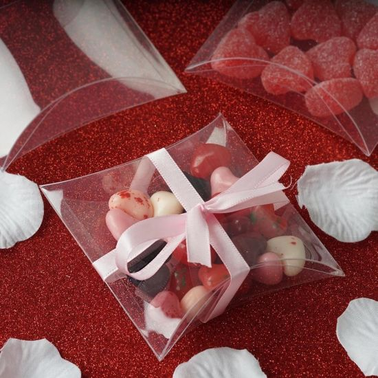 Attractive Display Clear Pet Pillow Box for Candy Packing