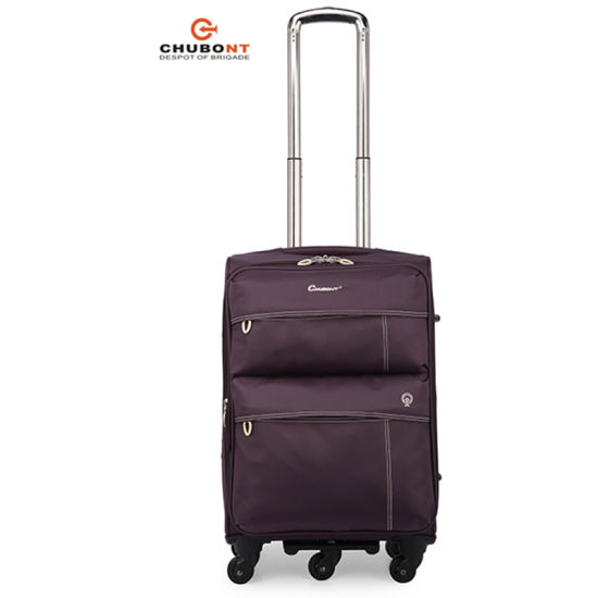 Chubont Waterproof Nylon Spinner Wheels Soft Travel Luggage Bag pictures & photos