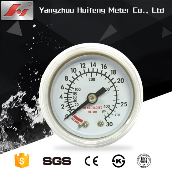 High Quality 4inch Bottom Stainless Steel Millibar Biogas Pressure Gauge pictures & photos