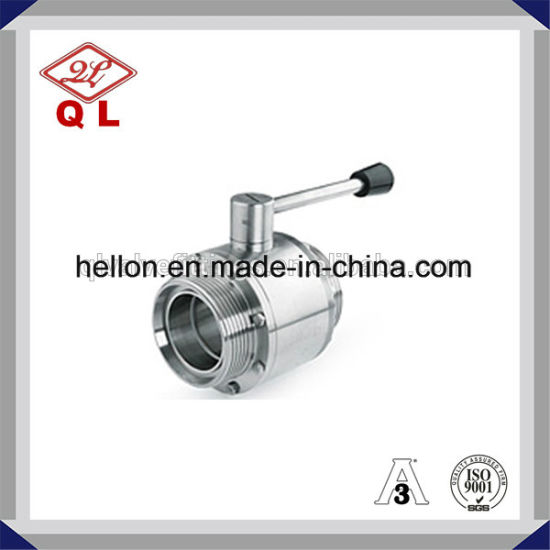 Stainless Steel High Platform Clamped 3 Way Ball Valve pictures & photos