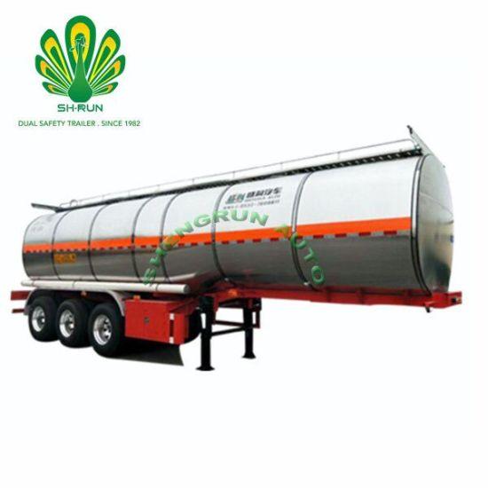40000 Liters 3 Axles Aluminum Tanker for Fuel /Oil/Crude/Milk/Juice/Ice Cream Transport