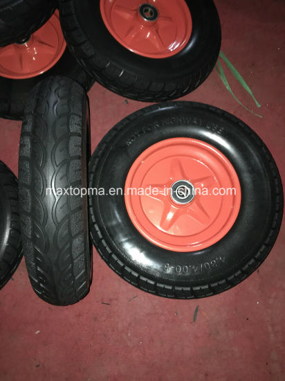 650-8 Maxtop Rubber Flat Free PU Foam Trolley Wheel pictures & photos