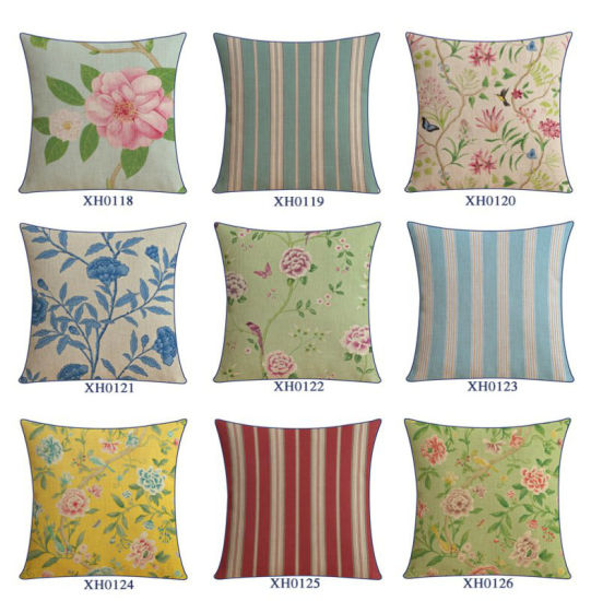 Cotton Linen Print Holiday Pillow Covers for The Couch pictures & photos