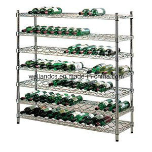 Adjustable K/D Metal Chrome Wine Rack Shelf (WR9035150A5C) pictures & photos