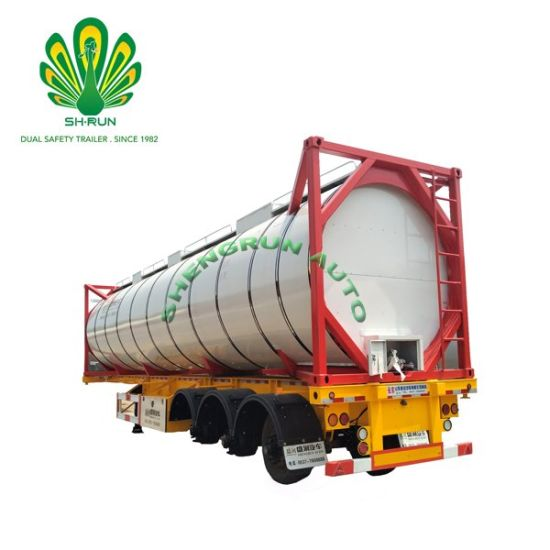 20~40FT Oil/Crude Oil/Chemical Liquid Tank Container for Sale