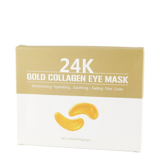 Wholesale Private Label 24K Pure Gold Anti-Aging Collagen Hyaluronic Acid Eye Mask