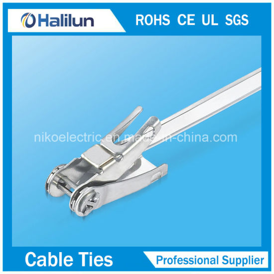 201 304 316 Save Time Stainless Steel Ratchet-Lokt Cable Tie Without Tool