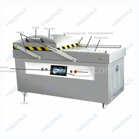 Stand Type Meat Seafood Double Chamber Vacuum Packing Machine (DZ-900/2SB) pictures & photos