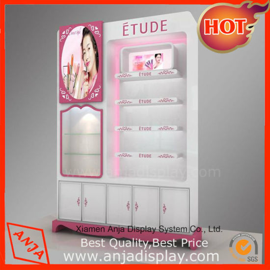Wholesale Fashion Countertop Wooden Cosmetic Display Case for Store pictures & photos