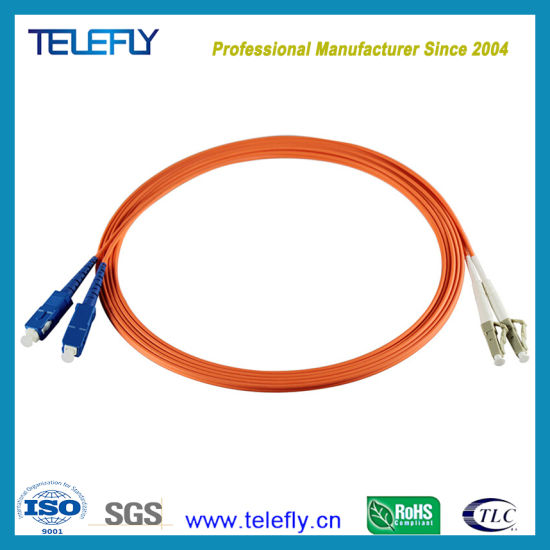 OM1-3M SC-SC//UPC 62.5//125 Multimode Duplex Fiber Jumper Cables 2.0mm Jacket