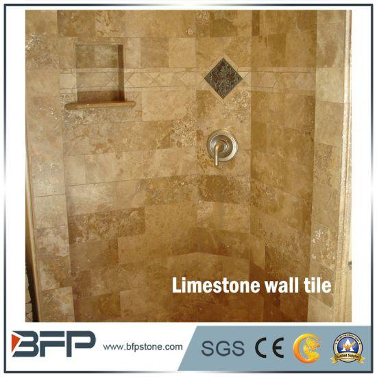 China Beige Stones Travertine Marble Bathroom Wall Tile For Interior - Beige-stone-bathroom-tiles