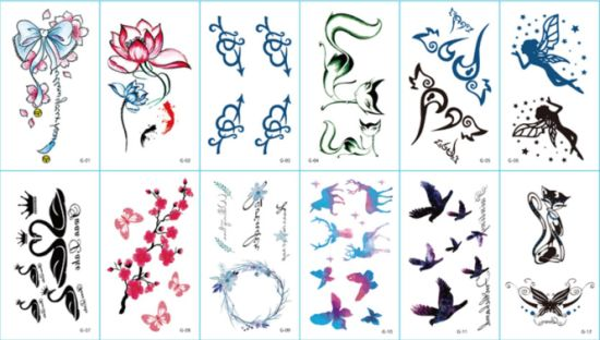 Fashion Cartoon Tattoo Stickers for Party/Celebration/Festival/Ceremony pictures & photos