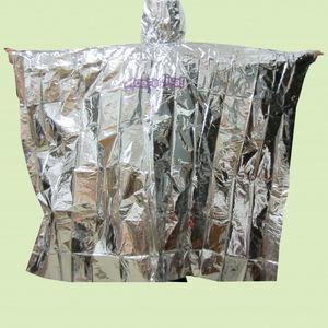 Disposable Medical Products Foil Emergency Poncho Waterproof and Windproof