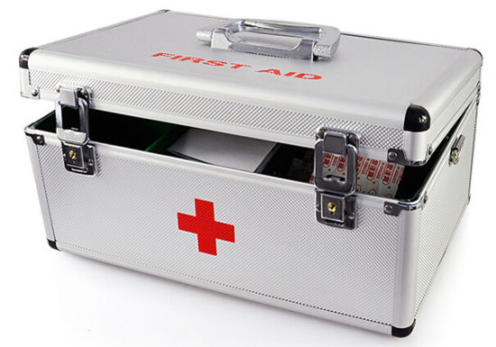 China Daily Home Care Large Aluminium Medical First Aid Kit
