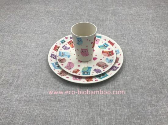 BPA Free Natural Bamboo Fiber Biodegradable Print Plate (YK-P30021) pictures & photos