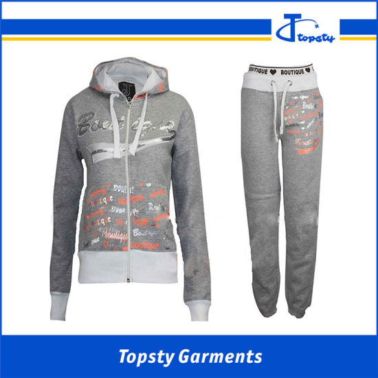 Wholesale Women's Track Suits, Cotton Fleece Custom Track Suits