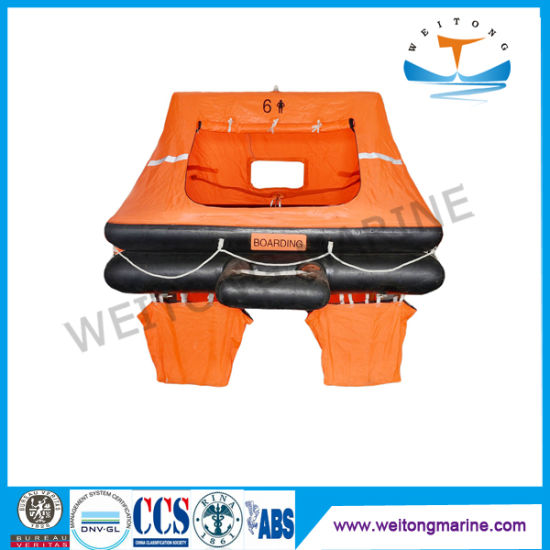 China Solas 6 Man Throw-Overboard Self-Righting Auto Inflatable Raft
