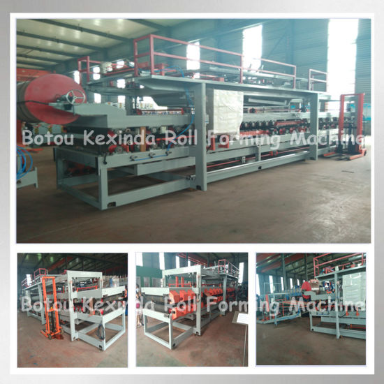 EPS and Rockwool Sandwich Panel Roofing and Wall Production Line Machine pictures & photos