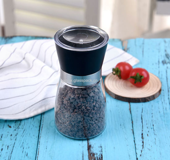 Amazon Hot Sale Glass Salt Mill, Pepper Mill, Grinder for Salt, Pepper & Spice