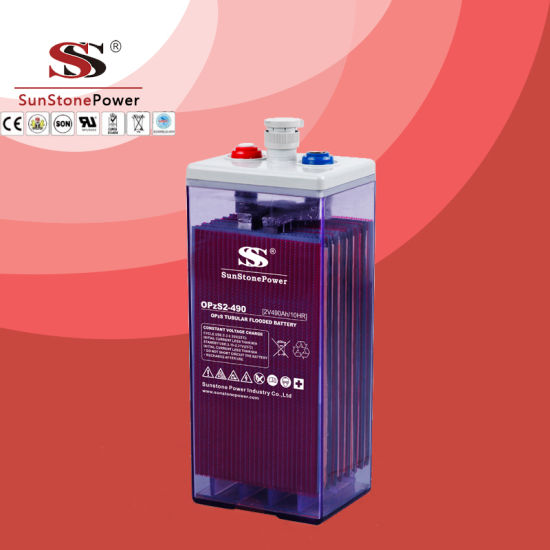 Lead Acid Battery OPS2V490ah Deep Cycle Battery Solar Battery