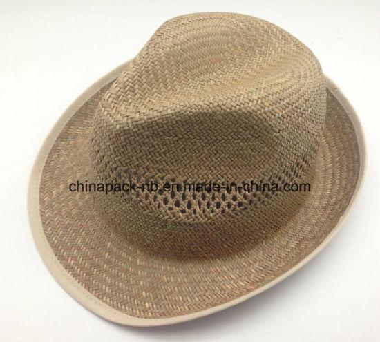 70a0768ba China 100% Paglia Natural Straw Fedora Hats for Men (CPA_60245 ...