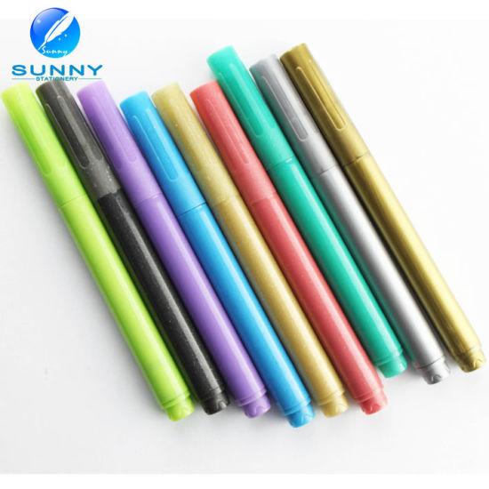 Party Pens Metallic Color Wet Wipe Funny Wine Glass Marker Pen
