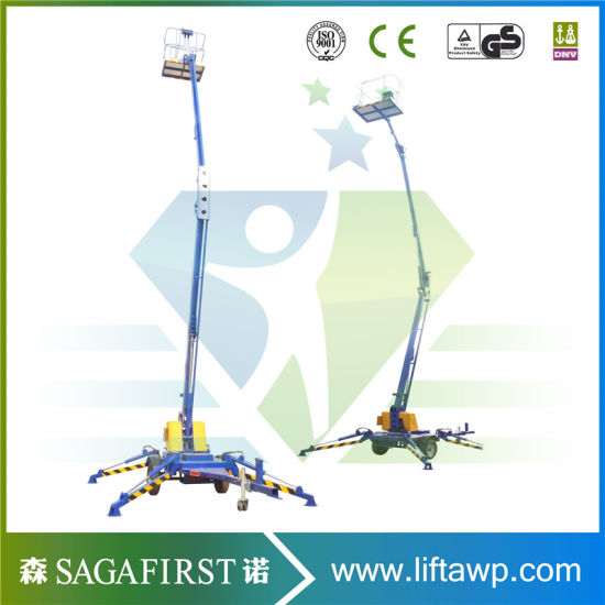 Heavy Duty Cheap Aerial Towable One Man Lift pictures & photos