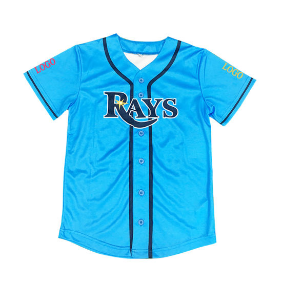 China Supplier Sportwear Wholesale Kids Custom Team Baseball Shirt pictures & photos