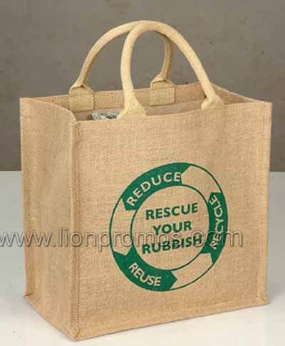 Eco Friendly Natural Original Jute Shopping Tote Bag pictures & photos