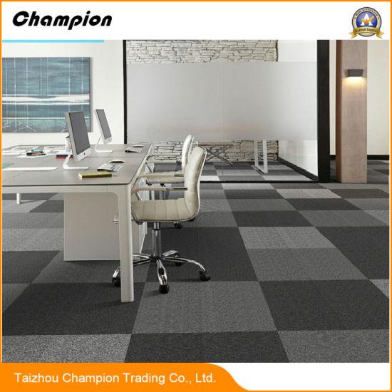 China Hyperlink Pvc Back Carpet Tiles 5050cm For Theme Restaurants