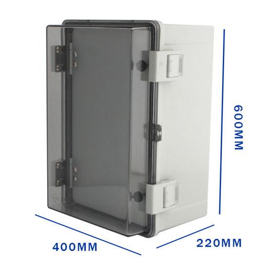 600*400*220 transparent double door waterproof sealing box wiring box  waterproof ip66 distribution box transparent two-door