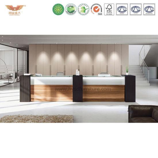 Melamine Laminated Hotel Front Desk Supplies Reception Design R36