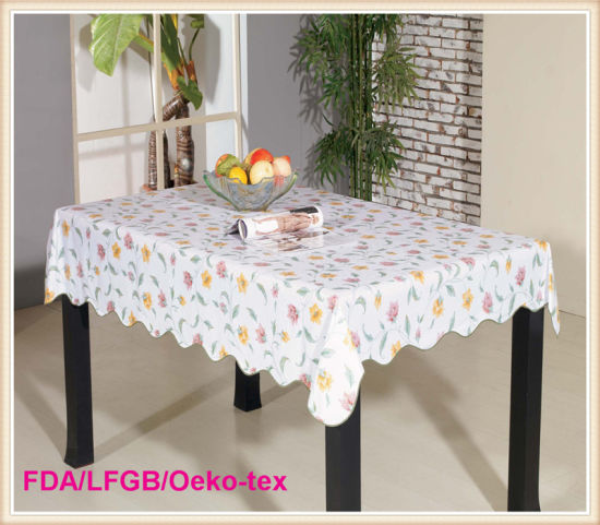 China Whole Printed Plastic Pvc Table Cloth With