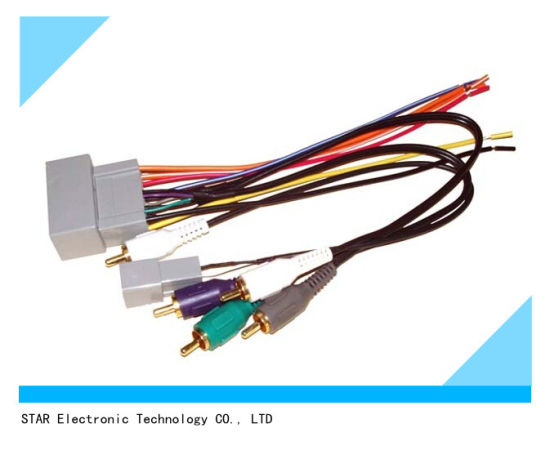 Custom 24 Pin ISO Radio Stereo Wire Harness for Honda china custom 24 pin iso radio stereo wire harness for honda
