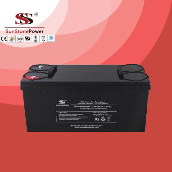Sunstone Gel Battery Manufacturer Mlg12-250 (12V250AH) Deep Cycle Battery Solar Gel Battery