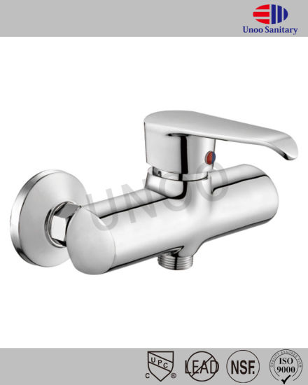Unoo Brass Chrome Plating Bath Mixer Faucet Bathroom Taps (M40-3)